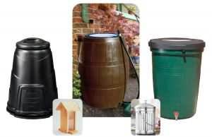 Compost Bin, Rain Barrels, Compost Pail and Birdhouse 2015
