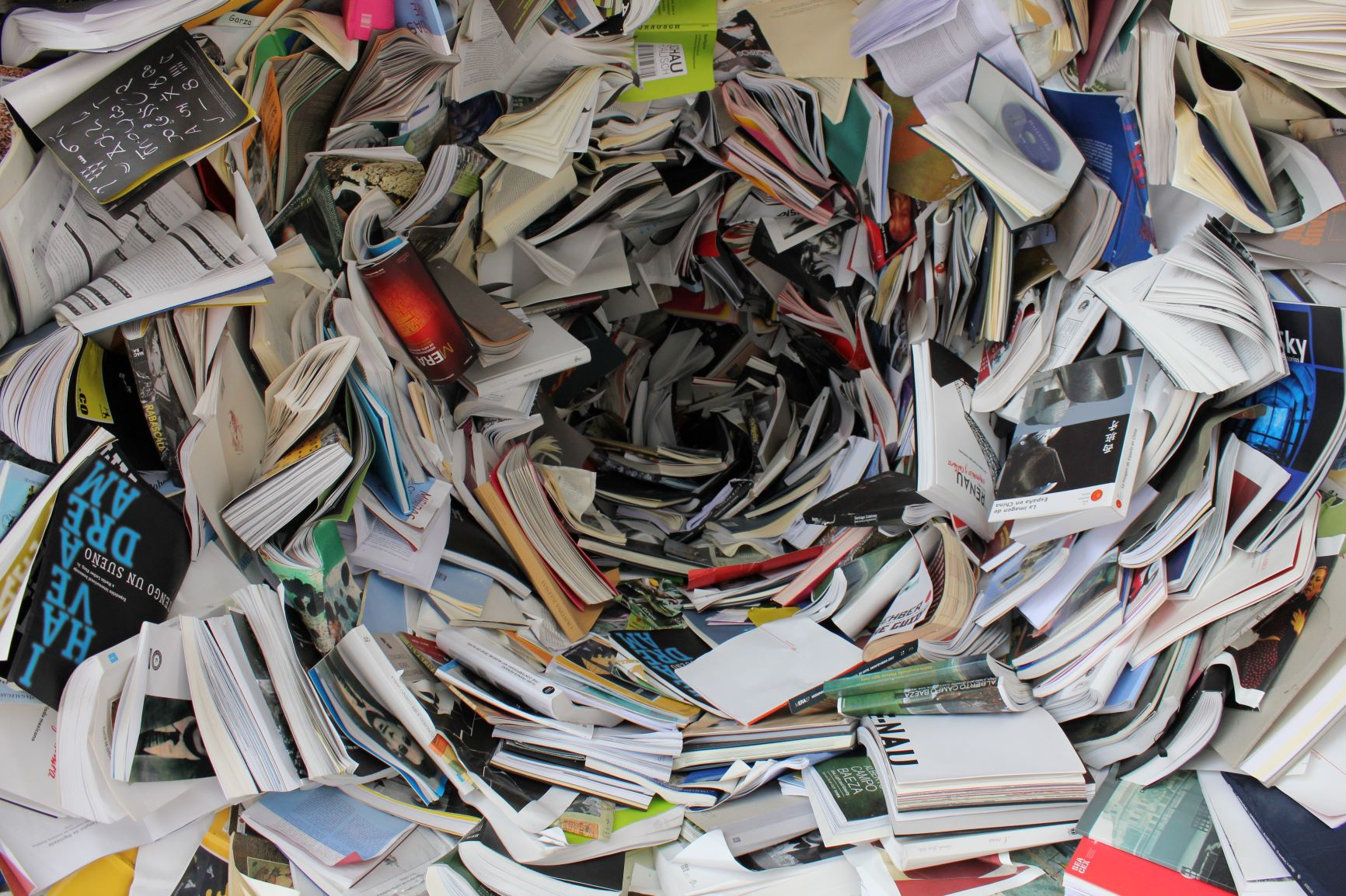 book paper recycling